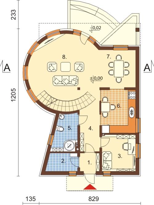 Projekt domu L-6140 - rzut