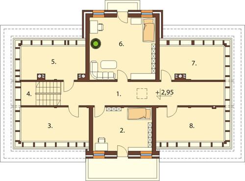 Projekt domu DM-6513 - rzut
