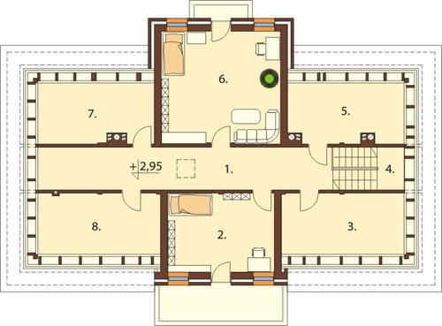 Projekt domu L-6513 - rzut