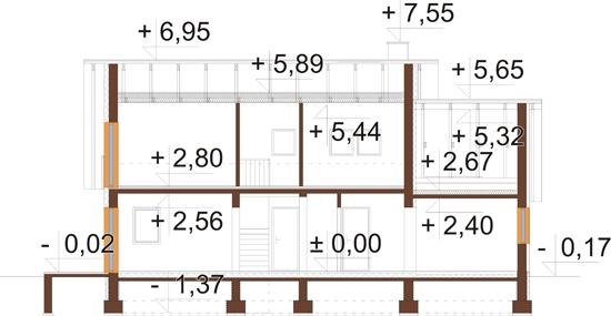 Projekt domu DM-6515 - przekrój