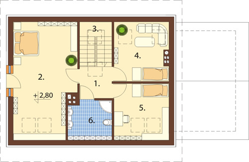 Projekt domu DM-6515 - rzut