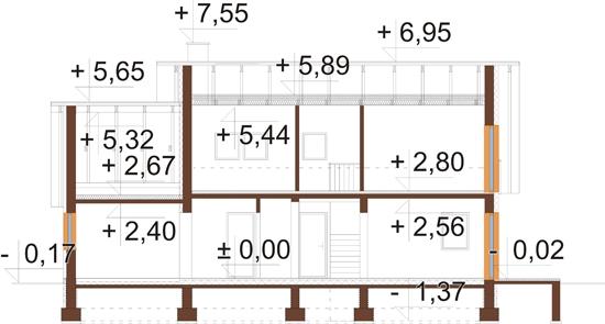 Projekt domu L-6515 - rzut