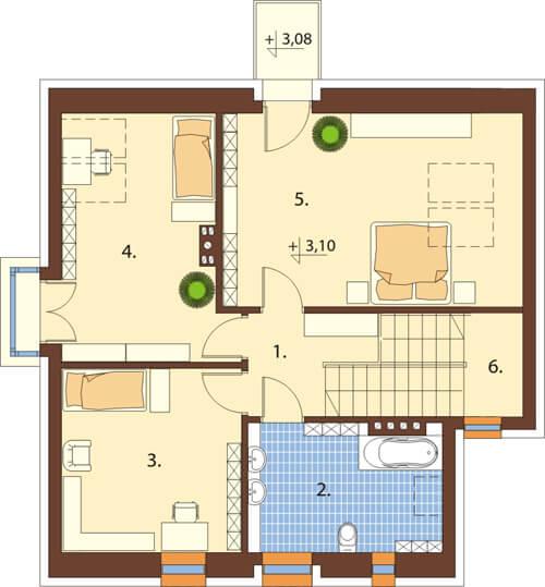 Projekt domu DM-6506 - rzut