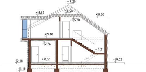 Projekt domu DM-6506 - przekrój