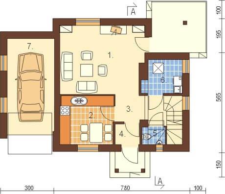 Projekt domu DM-6183 - rzut