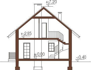 Projekt domu DM-6183 - przekrój