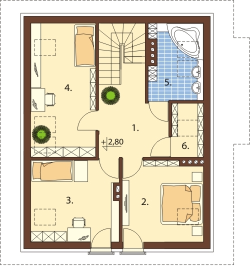 Projekt domu DM-6517 - rzut