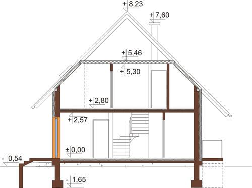 Projekt domu DM-6517 - przekrój