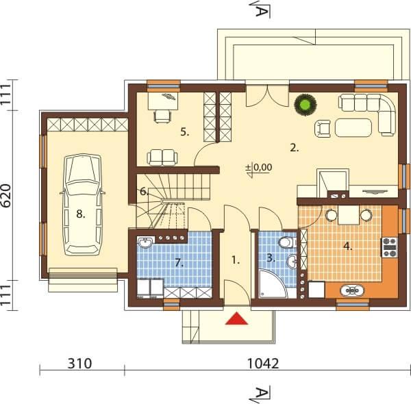 Projekt domu L-6517 - rzut