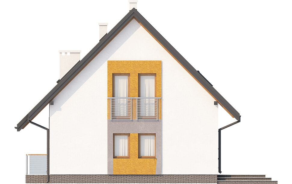 Projekt domu L-6517 - elewacja