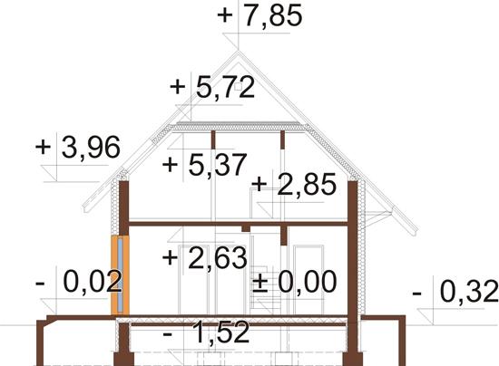 Projekt domu DM-6518 - przekrój