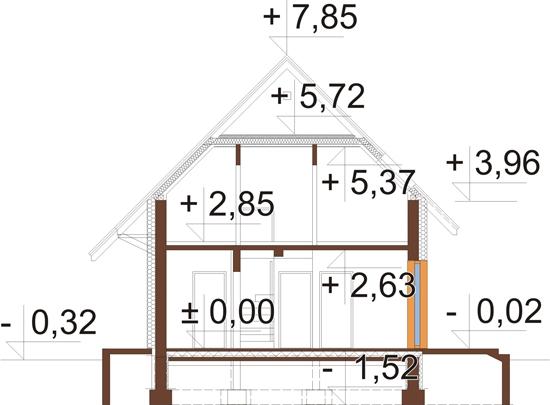Projekt domu L-6518 - przekrój
