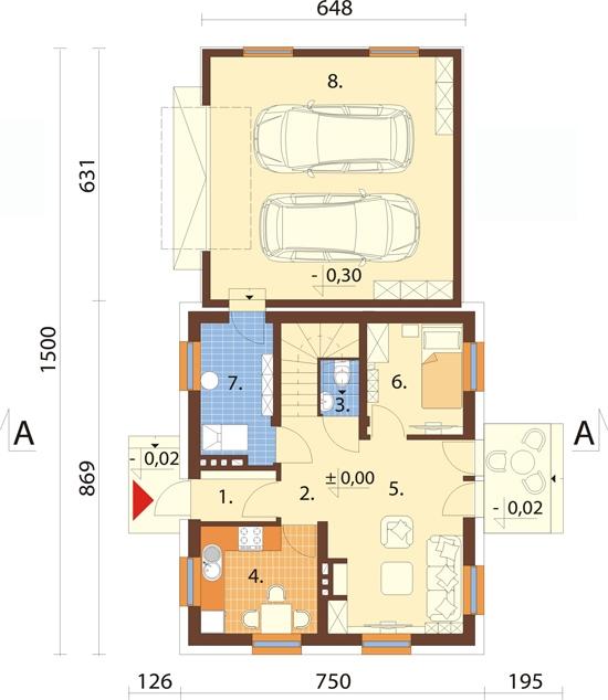 Projekt domu L-6518 - rzut