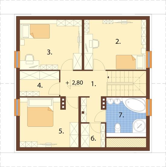 Projekt domu L-6519 - rzut
