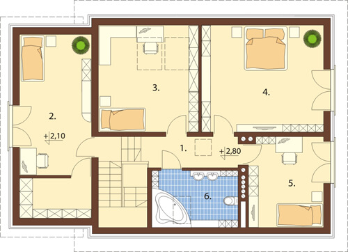 Projekt domu DM-6520 - rzut