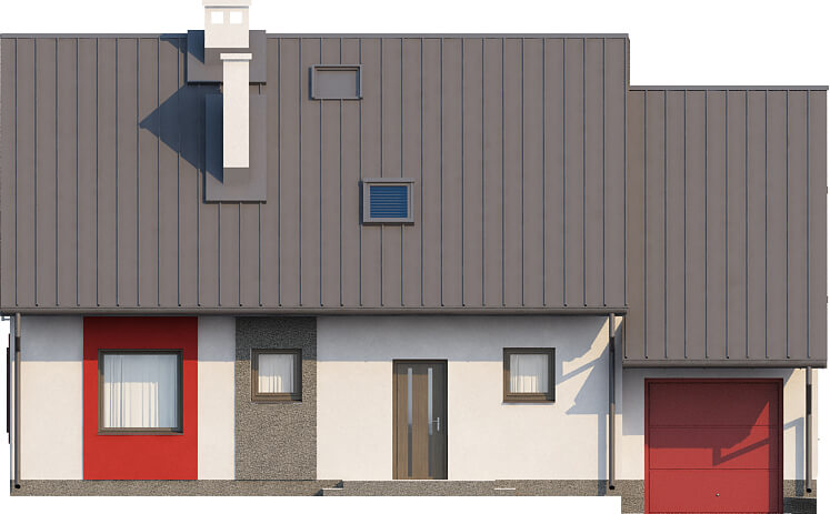 Projekt domu L-6520 - elewacja