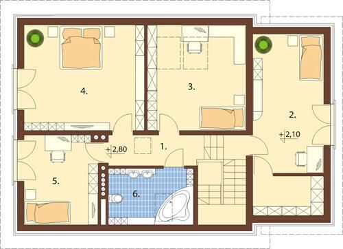 Projekt domu L-6520 - rzut