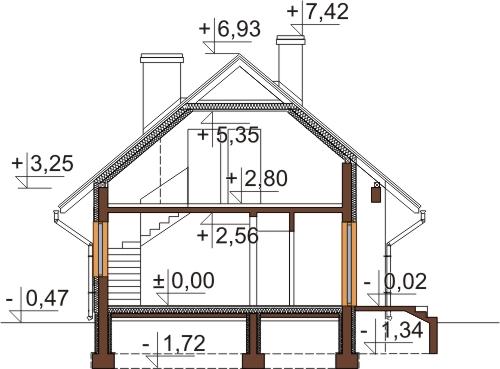 Projekt domu DM-6521 - przekrój