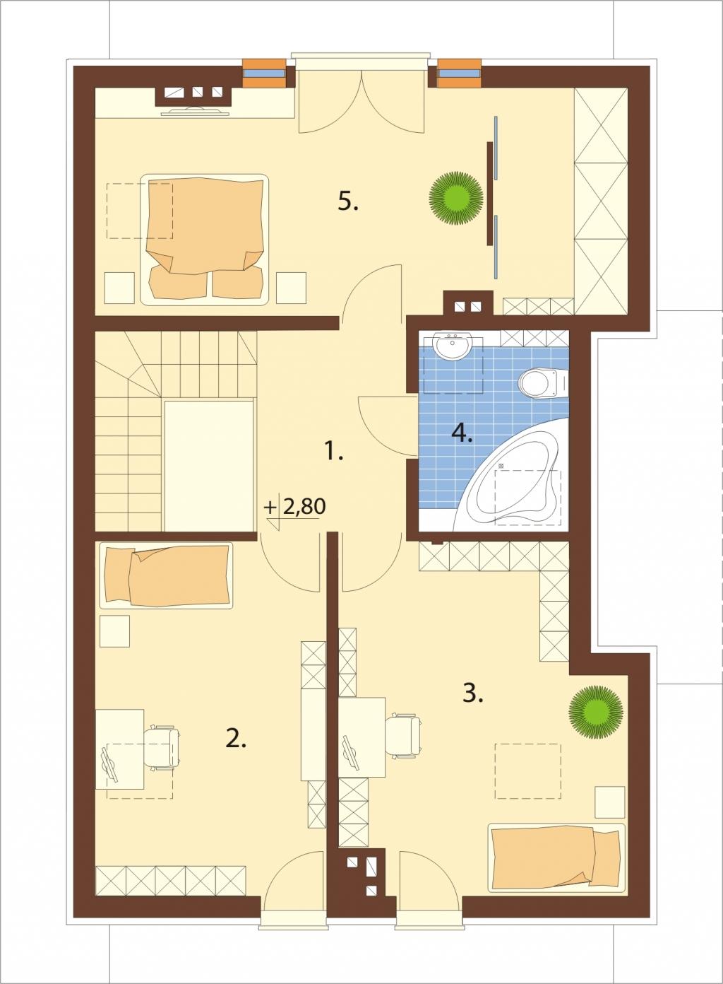 Projekt domu DM-6521 - rzut