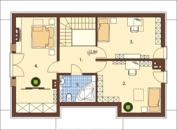 Projekt domu L-6521 - rzut