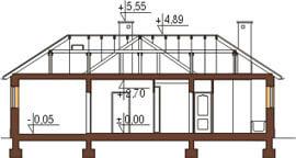 Projekt domu DM-6018 N - przekrój