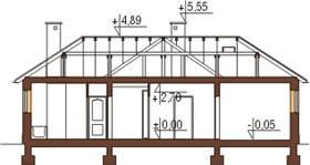 Projekt domu L-6018 N - przekrój