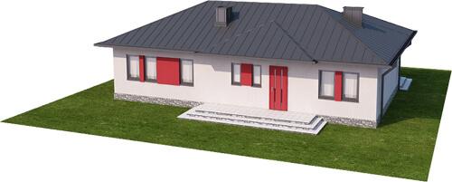 Projekt domu DM-6087 N - model