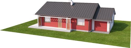 Projekt domu DM-6498 N - model
