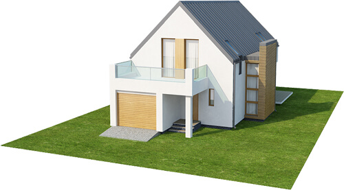 Projekt domu DM-6509 - model