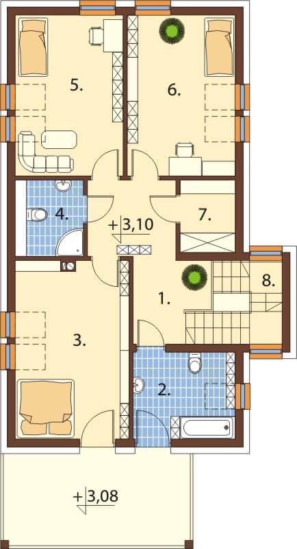 Projekt domu DM-6509 - rzut