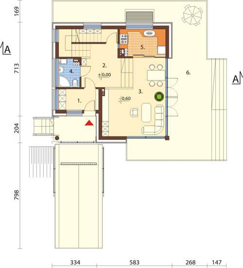 Projekt domu DM-6507 - rzut