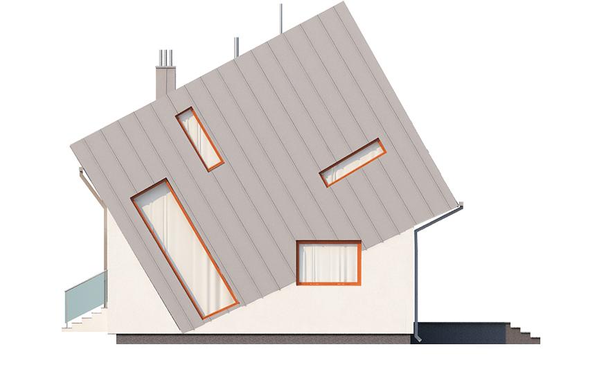 Projekt domu L-6507 - elewacja