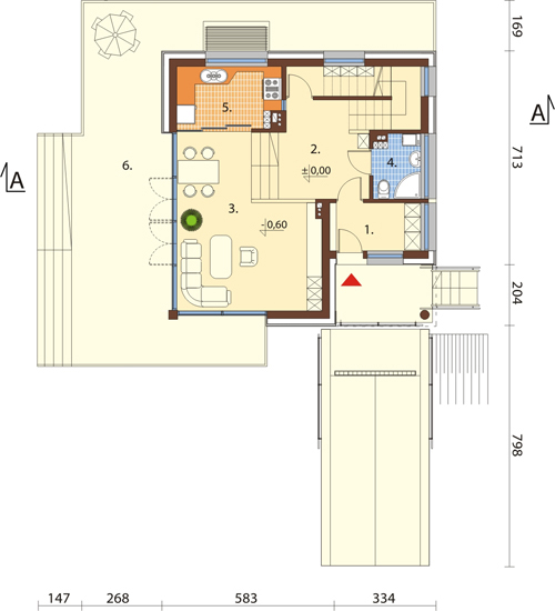 Projekt domu L-6507 - rzut