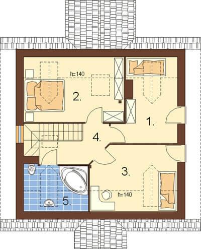 Projekt domu DM-6187 - rzut