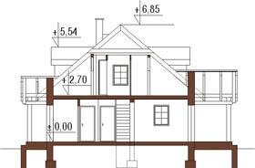 Projekt domu DM-6187 - przekrój