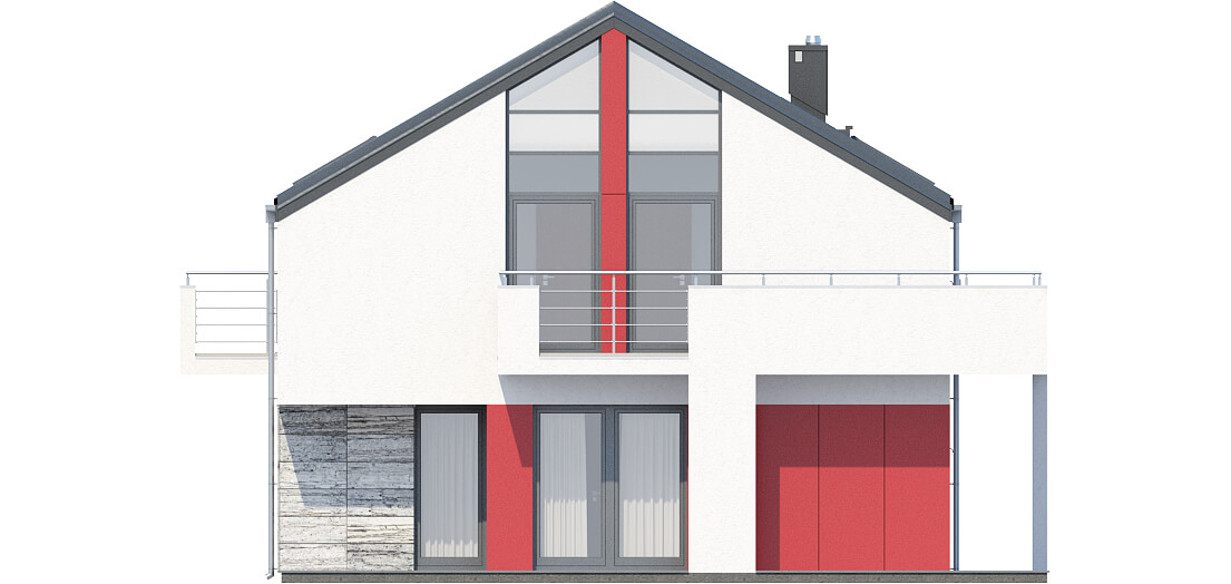 Projekt domu DM-6508 - elewacja