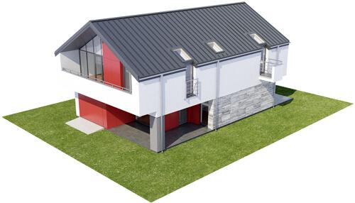 Projekt domu DM-6508 - model