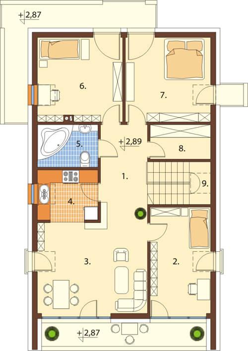 Projekt domu DM-6508 - rzut