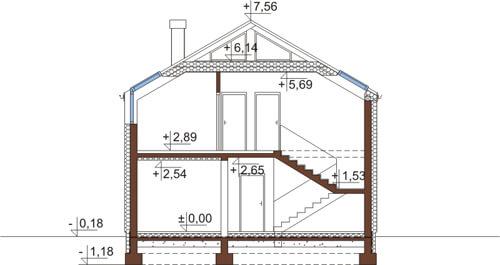 Projekt domu DM-6508 - przekrój