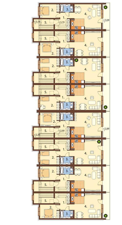 Projekt domu DM-6502 - rzut