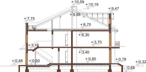 Projekt domu DM-6502 - przekrój