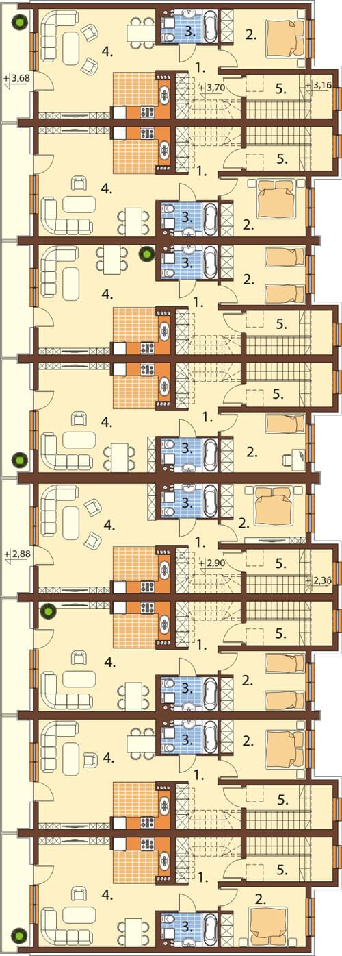 Projekt domu L-6502 - rzut