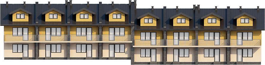 Projekt domu L-6502 - elewacja
