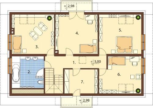 Projekt domu DM-6531 - rzut