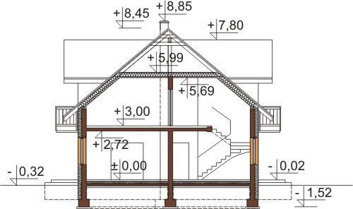 Projekt domu DM-6531 - przekrój