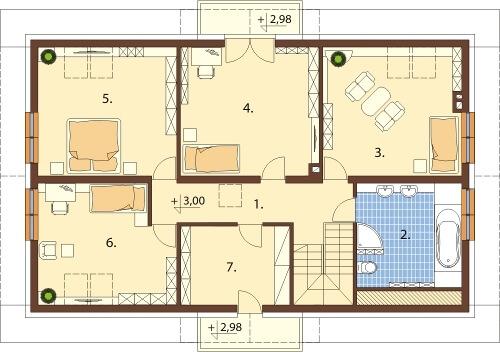 Projekt domu L-6531 - rzut