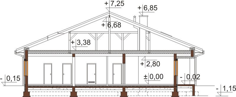 Projekt domu DM-6532 - przekrój