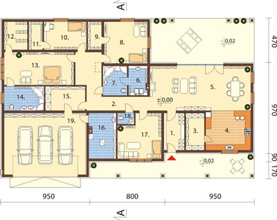 Projekt domu L-6532 - rzut