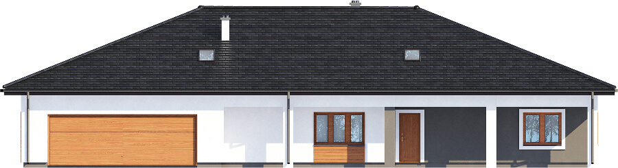 Projekt domu L-6532 - elewacja