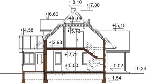 Projekt domu DM-6533 - przekrój